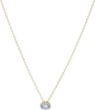 Alison Lou Blue Topaz Pendant Necklace