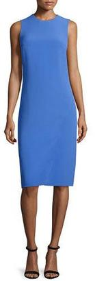 Ralph Lauren Collection Sleeveless Jewel-Neck Faux-Wrap Dress, French Blue $1,750 thestylecure.com