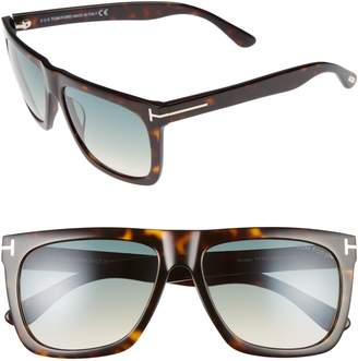 Tom Ford Morgan 57mm Flat Top Sunglasses