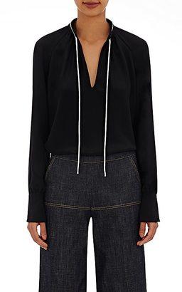 Derek Lam Women's Tieneck Blouse-BLACK $650 thestylecure.com