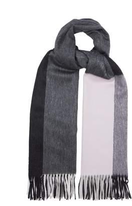 Co BEGG & Arran Frame contrast grid cashmere scarf