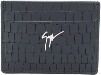 Giuseppe Zanotti Design Albert crocodile effect embossed wallet