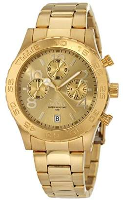 Invicta Women's 1279 II Collection Chronograph Dial 18k Toned Stainless Steel Watch