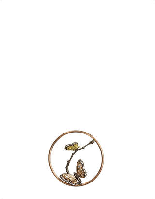 Rosegold Annoushka Butterflies Hoopla 18ct rose-gold and diamond pendant