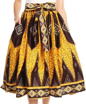 Celine Sakkas 16321 African Dutch Ankara Wax Print Full Circle Skirt - OS