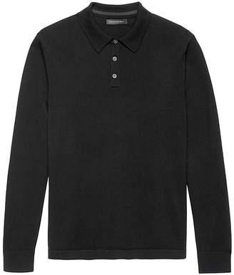 Banana Republic Extra-Fine Italian Merino Wool Sweater Polo