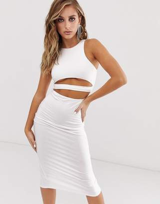 Asos Design DESIGN going out underboob bodycon midi dress
