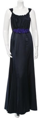 Vera Wang Lavender Label Scoop Neck Belted Gown $160 thestylecure.com