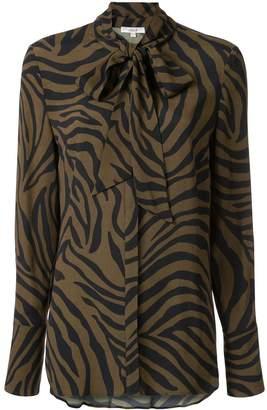 LAYEUR zebra print blouse