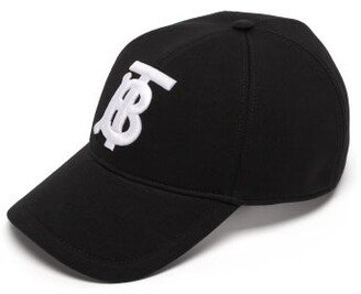 Burberry Monogram Cotton Jersey Baseball Cap - Mens - Black