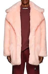 LANDLORD Men's Faux-Fur Peacoat - Pink