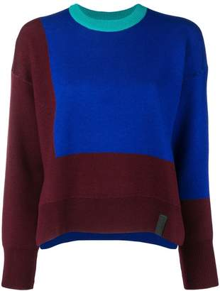 Kenzo colour block knit sweater