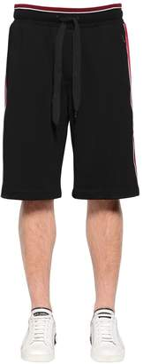 Dolce & Gabbana Cotton Sweat Shorts W/ Satin Side Bands