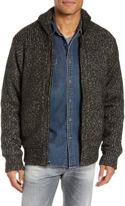 Schott NYC Wool Blend Zip Sweater Jacket