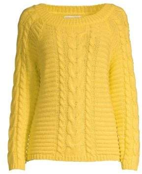 Rebecca Minkoff Juna Wool-Blend Cabled Sweater