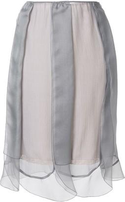 Prada layered tulle slip skirt