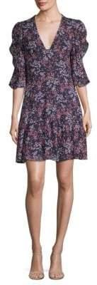 MICHAEL Michael Kors Ruffle-Sleeve Slip Dress