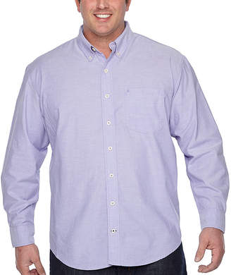 Izod Saltwater Newport Oxford Long Sleeve Button-Front Shirt-Big and Tall