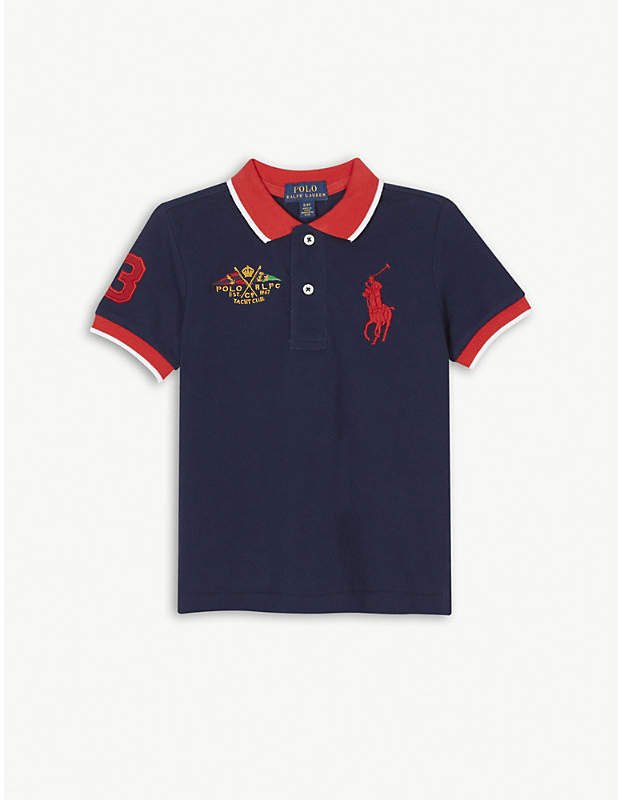 Embroidered logo cotton polo shirt 2-4 years