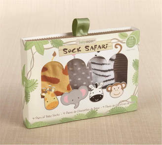 Baby Aspen Sock Safari Set Of 4 Socks
