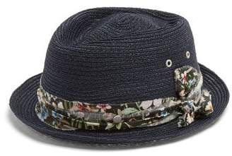 Maison Michel Jac Straw Hat - Womens - Navy