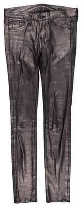 Rag & Bone Mid-Rise Leather Pants