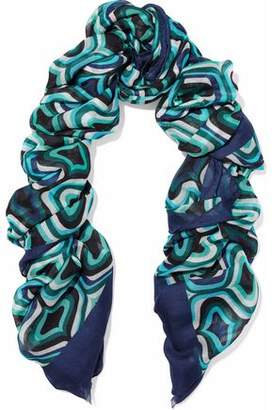 M Missoni Printed Modal Cashmere And Wool-Blend Scarf