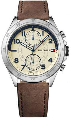 Tommy Hilfiger Men's Multifunction Leather Band Watch 1791344
