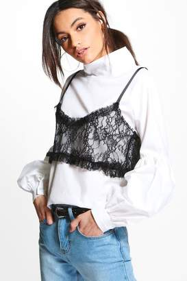 boohoo Felicity 2 in 1 Lace Cami Shirt