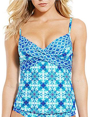 La Blanca True Blue Underwire Tankini $99 thestylecure.com