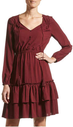 Jag NEW Kristin Dobby Dress Red