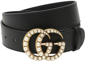 40mm Gg Marmont Pearl Buckle Belt $650 thestylecure.com