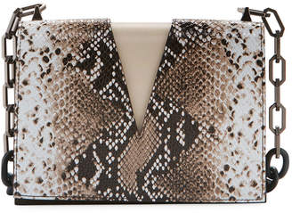 THE VOLON Python V-Chain Shoulder Bag
