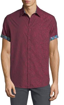 Robert Graham Men's Linwood Woven Dot Sport Shirt