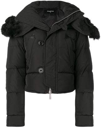 DSQUARED2 cropped puffer jacket
