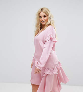 Alice & You Long Sleeve Shift Dress With Ruffle Layers