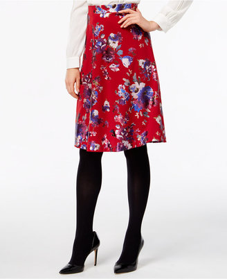 ECI Floral-Print Pull-On Skirt $60 thestylecure.com