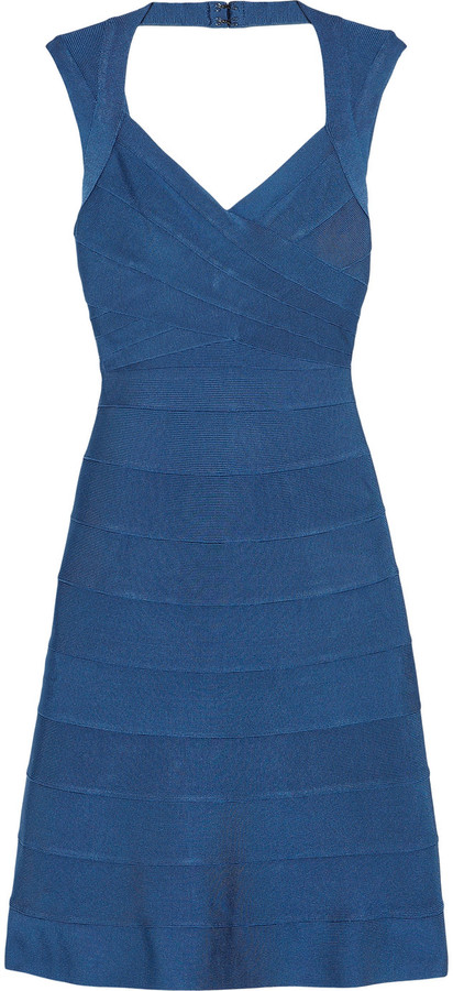 Hervé Léger A-line bandage dress