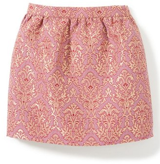 Girl's Peek Natalie Metallic Jacquard Skirt $58 thestylecure.com