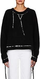 MM6 MAISON MARGIELA Women's Sequined Bouclé-Knit Sweatshirt - Black