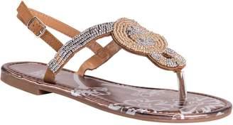 Muk Luks Women's Beaded Slingback Thong Sandals- Celia