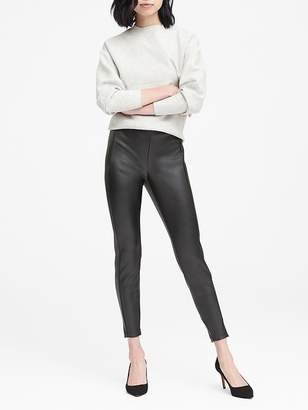 Banana Republic Petite Devon Legging-Fit Vegan Leather Ankle Pant
