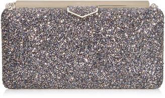 Jimmy Choo ELLIPSE Twilight Glitzy Glitter Fabric Clutch Bag