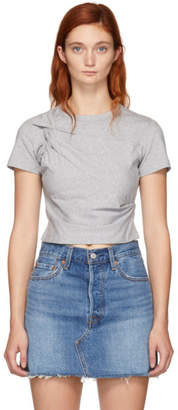alexanderwang.t Grey Twist Top T-Shirt