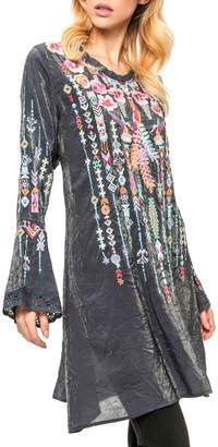 Adore Embroidered Bell Blouse