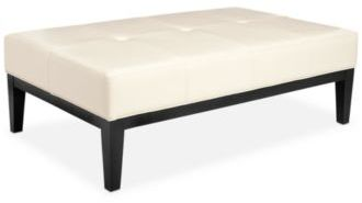Charlton Faux Leather Cocktail Ottoman, Quick Ship