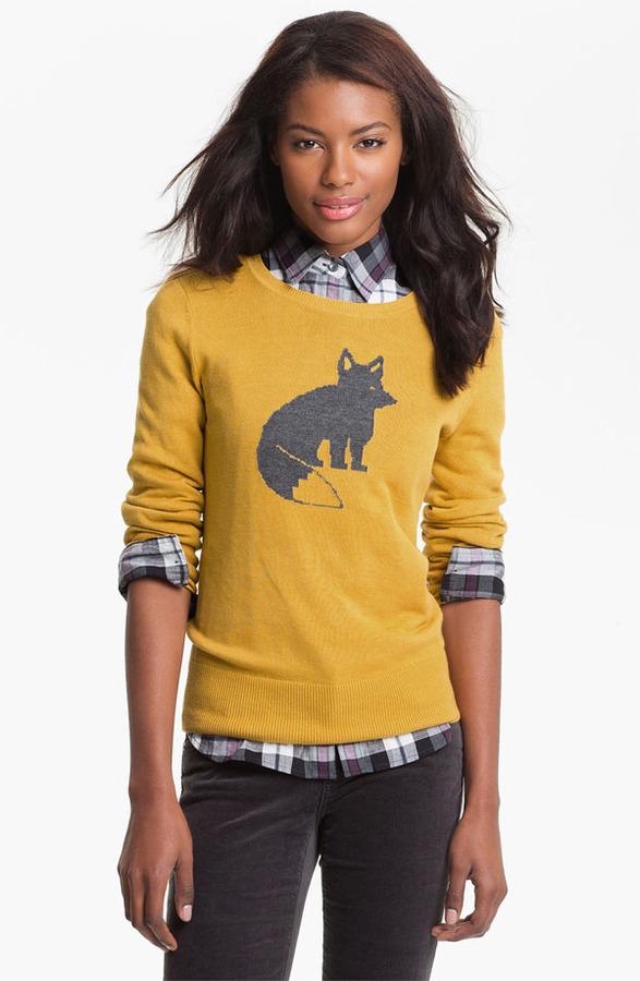 Caslon Patterned Crewneck Sweater