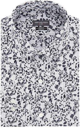 Van Heusen Flex Slim Long Sleeve Twill Floral Dress Shirt - Slim