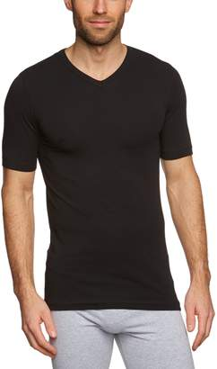 Schiesser Men's T-Shirt V-Neck Half Sleeve Series 95/5 - : :