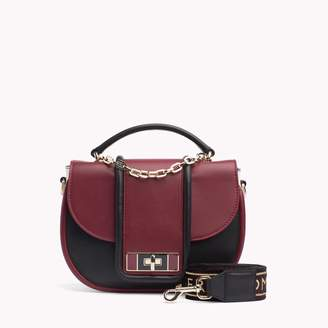 Tommy Hilfiger Luxe Leather Crossbody Satchel